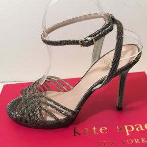 Kate Spade Bronze Lurex Special Occasion Sandals